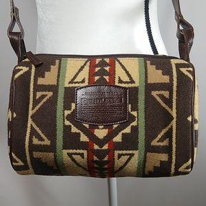 Pendleton Wool Aztec Pattern Crossbody Bag